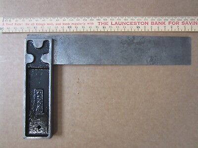 "Vintage J.RABONE & SONS No.1905 Carpenter 8"" Metal Square Tool England"