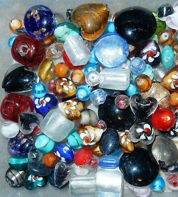 500 grams #2 mixed glass beads assorted colours and shapes