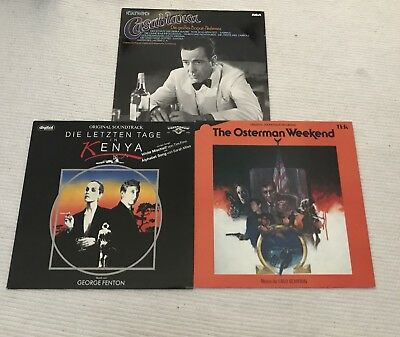 3Stk Soundtrack -Osterman Weekend/Casablanca/Mischief -Filmmusik Album Vinyl 3LP