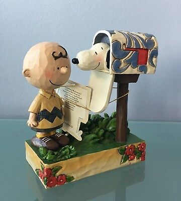 """Peanuts by Jim Shore Figurine ~""""Special Delivery"""" ~ Charlie Brown & Snoopy"""