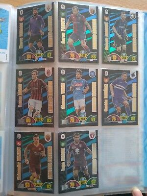 Cards limited edition Adrenalyn xl serie A 2018/19 Panini vendo 8 insieme