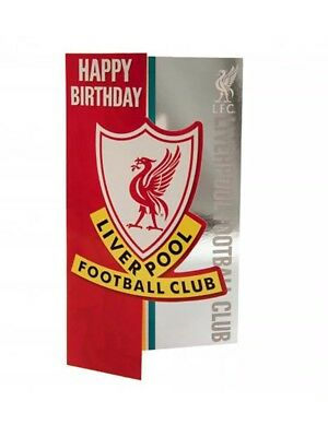 Liverpool FC Birthday Card  Official Club Merchandise Gift