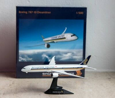 Singapore Airlines Boeing 787-10 Herpa Wings 1:500  OVP! Exclusives Modell