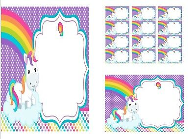 Personalised Baby Unicorn Stationery Set