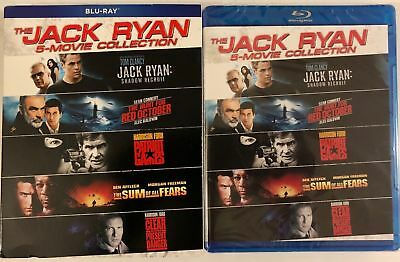 New The Jack Ryan 5 Movie Collection Blu Ray + Slipcover Sleeve Free Shipping