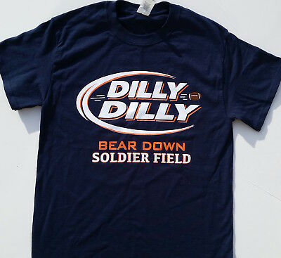 Chicago Bears Dilly Dilly Bear Down Soldier Field T-shirt Mack Trubisky Ditka