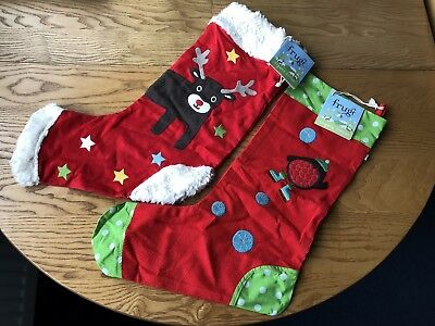 Frugi Christmas Stockings X 2 Brand New - Collection Only