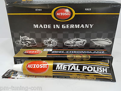 4x AUTOSOL METAL POLISH Edel Chromglanz Politur je 75ml (6,00€/100ml)