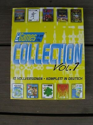 10x CD-ROM Games Collection Vol.1 PC WIN95 Spielesammlung Vollversion + Handbuch