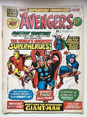 The Avengers - UK Marvel Comic Weekly Issue No.1 September 1973