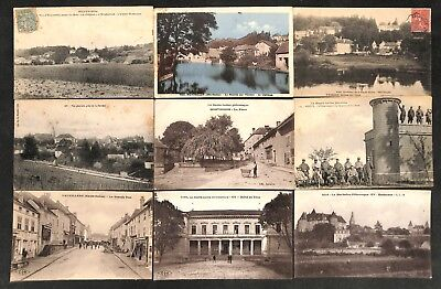 70 - Lot 9 CPA - MONTBOZON, VAUVILLERS, GY, VESOUL, ...