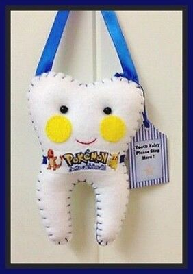 Tooth Fairy Pillow Pokemon Insp - Pocket on back for lost tooth/money-Handmade