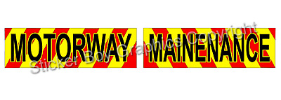 Highway Maintenance Magnet Highways Road Works Chevron Sticker 620mm package KIT