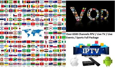 VIP IPTV SUBSCRIPTION 1-12 Months - 6500 + LiveTV + VOD + PPV No Glitch