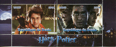 Benin 2014 CTO Harry Potter Hermione Granger 2v S/S II Movies Stamps