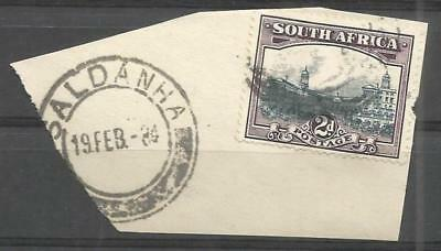 Union of South Africa Postmark Saldanha 19.02.1934 Cape on small piece