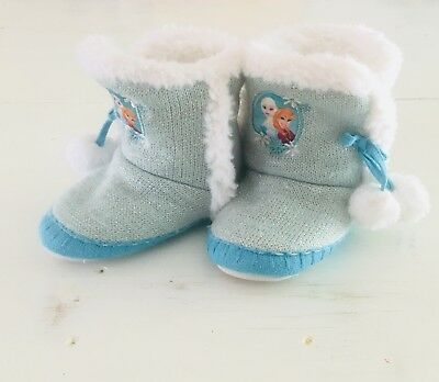 Frozen Elsa And Anna Boot Slippers 9/10 Toddler