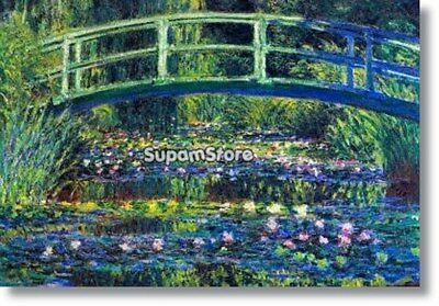 "Claude Monet Water Lily Pond 2 Art Photo Fridge Magnet 2""x3"""