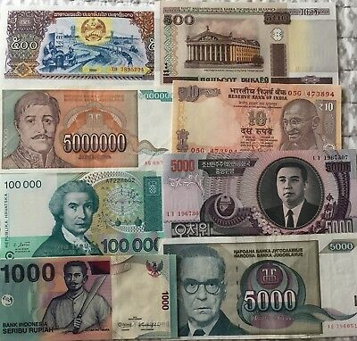 8 Pcs Different Countries Banknotes World Paper Money Set/Lot - UNC From Bundle