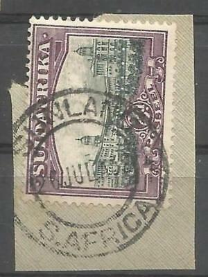 Union of South Africa Postmark Sunland Cape 26.07.1932 on small piece