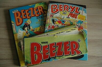 Beryl the Peril & The Beezer Book1981 (Annuals) + Beezer summer special comic