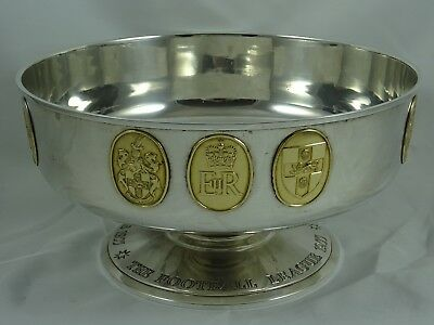 `THE FOOTBALL LEAGUE` solid silver ROSE BOWL, 1977, 961gm