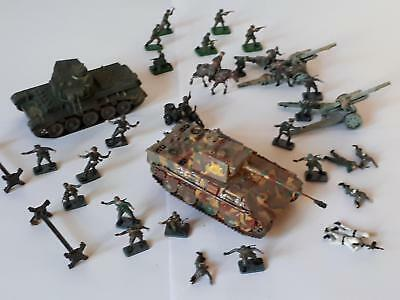 Airfix Konvolut German Infantry Mountain Troops Panther Tank Panzer Artillery