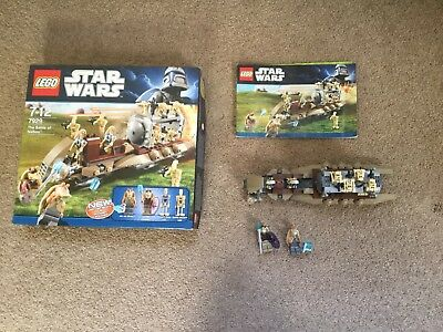 Star Wars Lego The Battle Of Naboo 7929 Very Good Condition