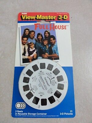 NEW Vintage FULL HOUSE View Master 3D - 3 Reels in Container