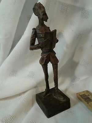 Vintage Don Quixote Figure Ouro Artesania Made in Spain No.576 7.5 tall
