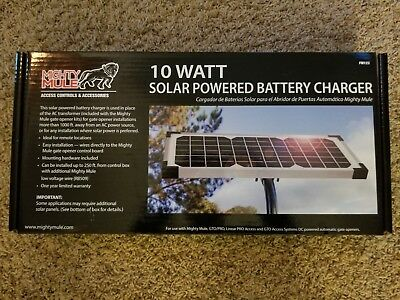 Mighty Mule FM123 10 Watt Solar Powered Battery Charger ***FREE SHIPPING ***