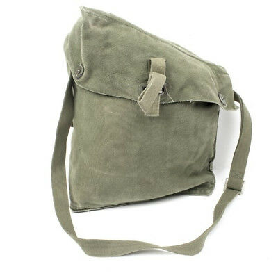 Vintage Military Canvas Bag Swedish Army M51 Gas Mask
