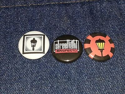 "Streetlight manifesto set of 3 1"" inch button pin back punk ska"