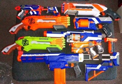 Nerf Guns Huge Bundle 9 Guns with Bullets Includes Zombie Strike & Retaliator