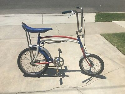 Vintage 70's Swing Bike Bicycle, Patriotic-Red, White and Blue w/Banana Seat