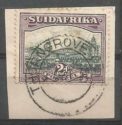 Union of South Africa Postmark Thorngrove Rail Cape 05.10.1932 on small piece