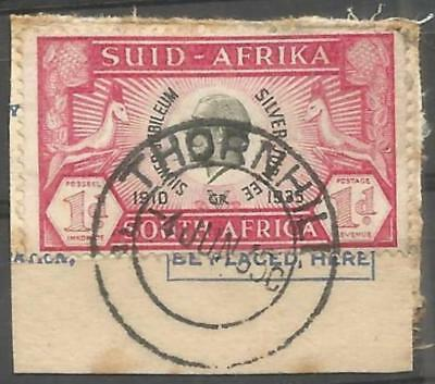 Union of South Africa Postmark Thornhill Cape 04.06.1935 on small piece