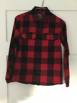 Boys Red And Black Check Shirt Age 11