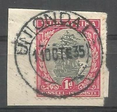 Union of South Africa Postmark Uniondal Cape 11.10.1935 on small piece