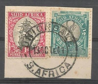 Union of South Africa Postmark Uniondal Cape 13.10.1941 on small piece