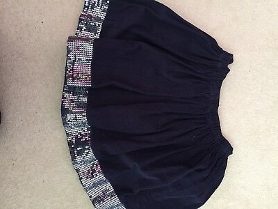 Girls Blue With Sequinned Trim John lewis Party Skirt age 9