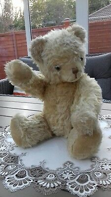 Large Antique,vintage,old Jointed ,mohair teddy bear