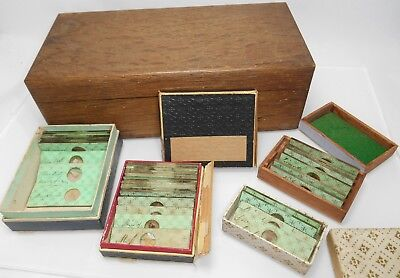 Lot Of 36 c1830 19thc Early Antique Microscope Slides By J W BOND Paper Labels