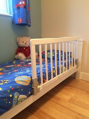 Baby Dan White Wooden Bed Guard  Great Condition