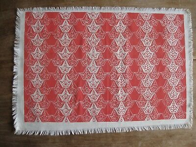 """Folly Cove Designers Placemat/Print """"Ivy"""" Dorothy Norton 1952"""