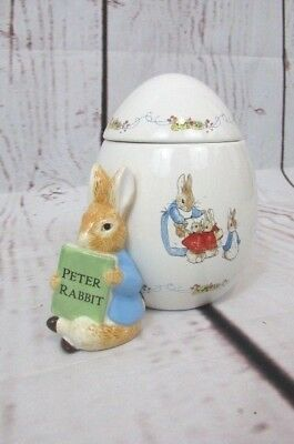2008 Beatrix Potter Frenderick Warne PETER RABBIT Cookie Jar Canister With Lib