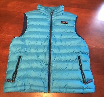 Blue Patagonia Down Sweater Vest Size Youth XL 14