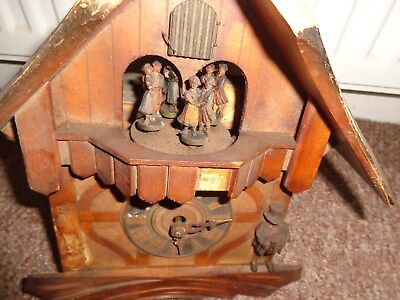 Vintage German Black Forest style Cuckoo Clock spares/repair