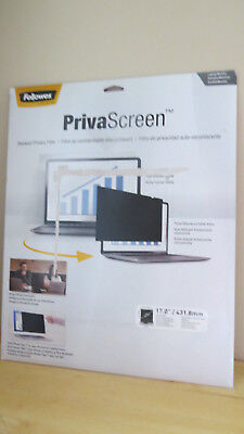 "Fellowes 17.0"" Privascreen Blackout Privacy Filter 17"" Widescreen Filter"