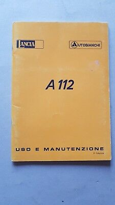 Autobianchi A 112 1978 manuale uso originale owner's manual